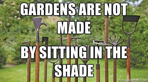 GARDENS ARE NOT MADE…