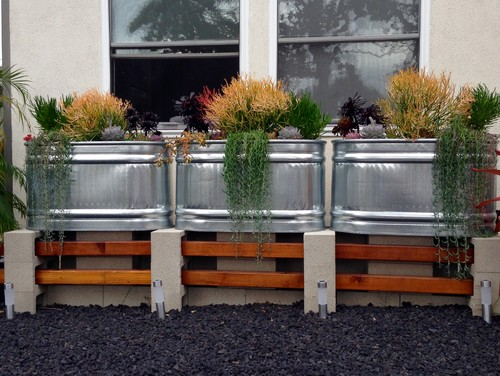 The Galvanized-Metal Stock Tank Planter